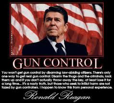 President Reagan On Gun Control