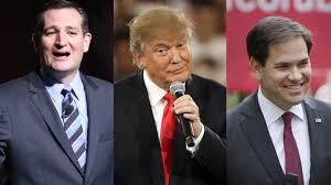 Trump Cruz and Rubio